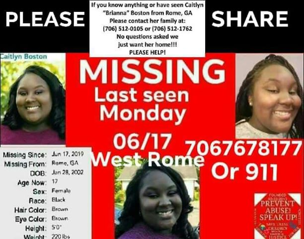 Q102 - Northwest Georgia - Search continues for missing teen